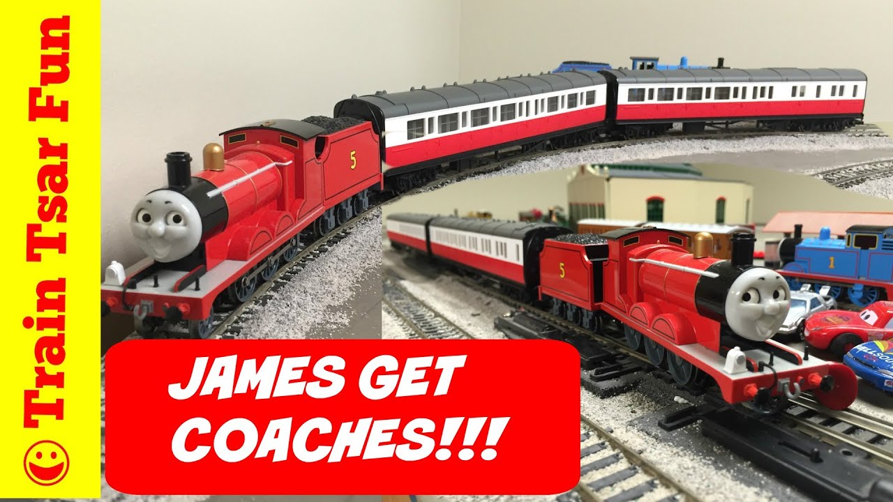 James The Red Engine Gets His Coaches Thomas And Friends Trains Train Tsar Fun