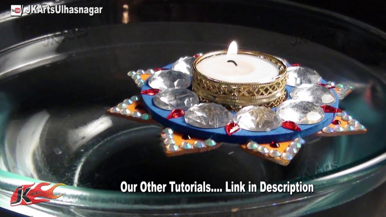 diy floating candle holder how to make jk arts 661 youtube