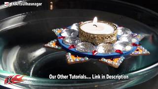 DIY Floating Candle Holder | How to make | JK Arts 661