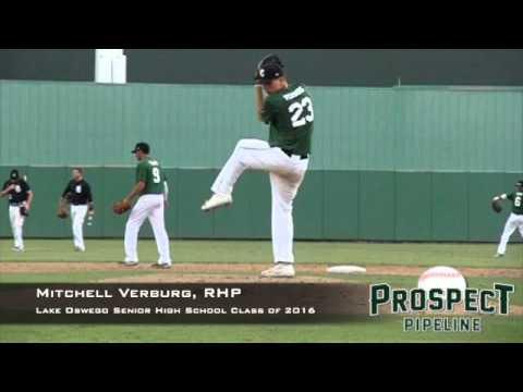 Mitchell Verburg, RHP, Lake Oswego Senior High School, Pitching Mechanics at 200 FPS