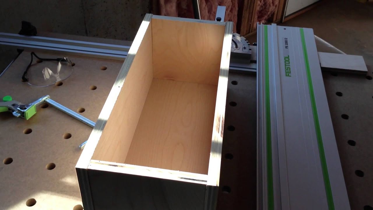 Building a plywood box with Festool - YouTube