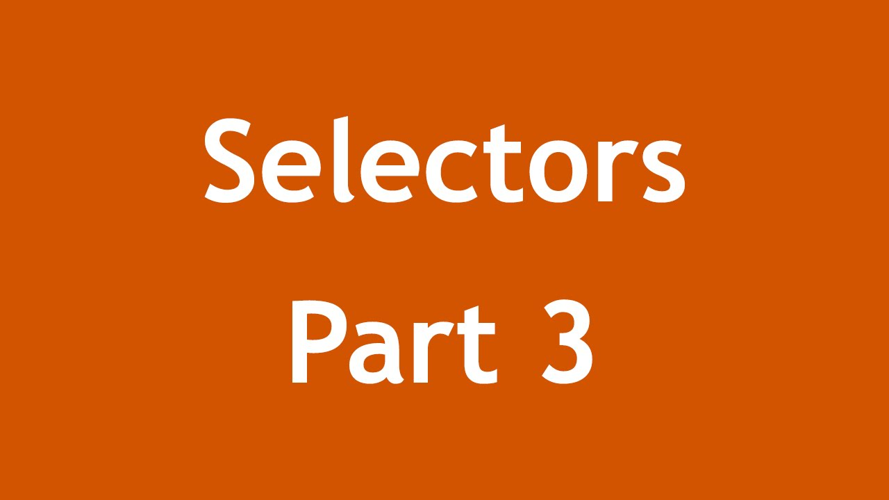 [ Css3 In Arabic ] #51 - Selectors - Not, Last-Child, First-Of-Type