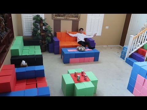 REPLACING OUR FURNITURE WITH THE FOAM PIT!! | FaZe Rug