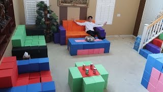 REPLACING OUR FURNITURE WITH THE FOAM PIT!! | Vlogs | FaZe Rug