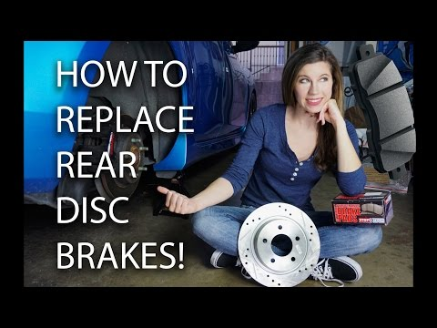 HOW TO REPLACE REAR DISC BRAKES - ROTORS AND PADS!