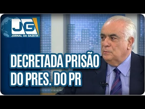 Decretada prisão do presidente do PR