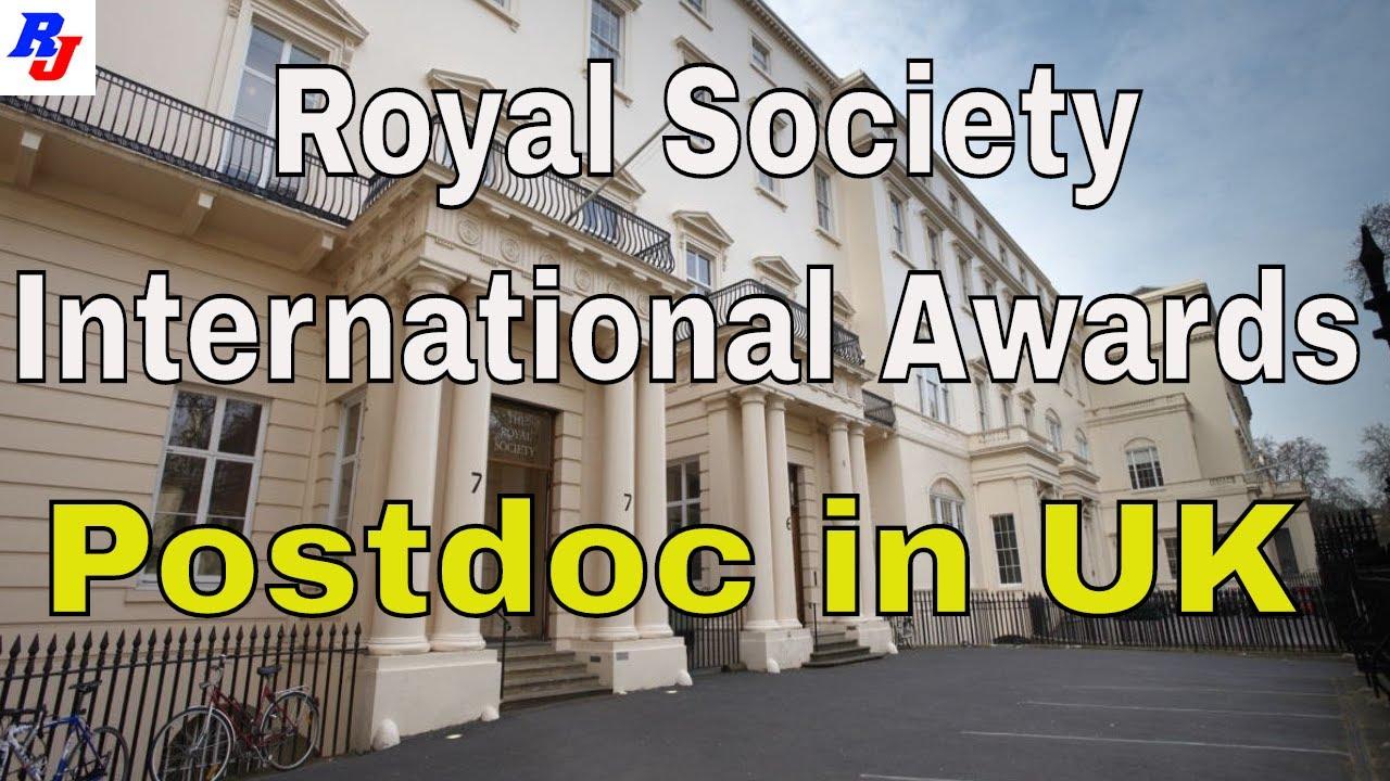 Royal Society International Awards (Postdoc) in United Kingdom | Postdoc in  UK : Researchersjob