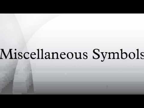 Miscellaneous Symbols
