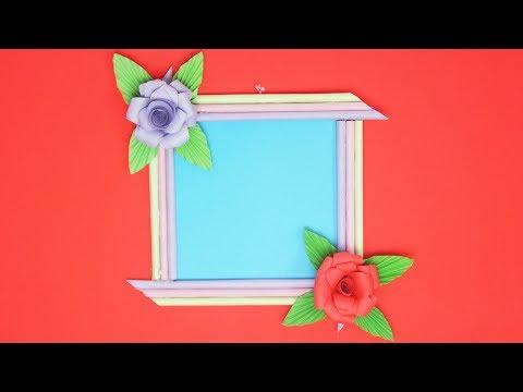 Diy Beautiful Paper Frame L Tcraft Youtube