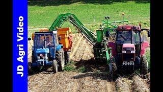Case Maxxum 5150 | Ford 4610 | Aardappels rooien | Merkelbeek | Harvesting potatoes | 2018
