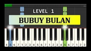not piano bubuy bulan - tutorial level 1 - lagu daerah nusantara - tradisional -  jawa barat