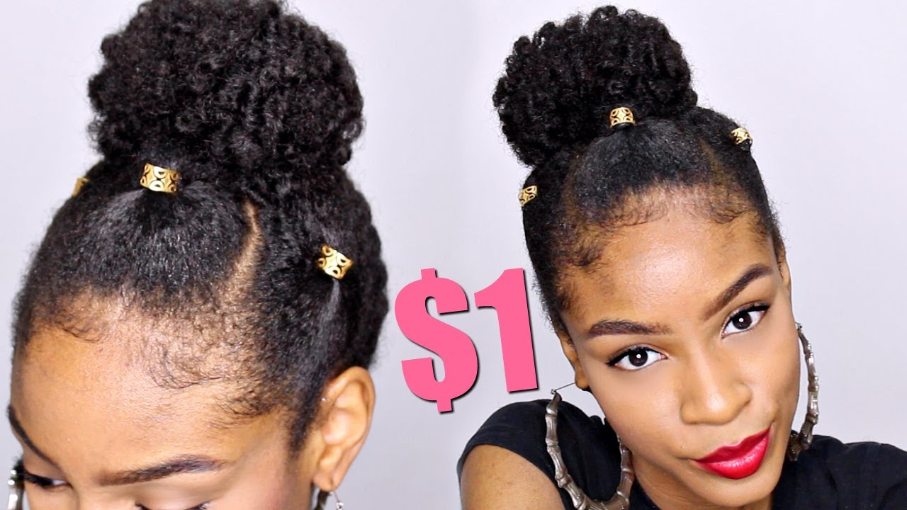 Natural Hairstyles With Loc Jewelry Natural Hair Bun