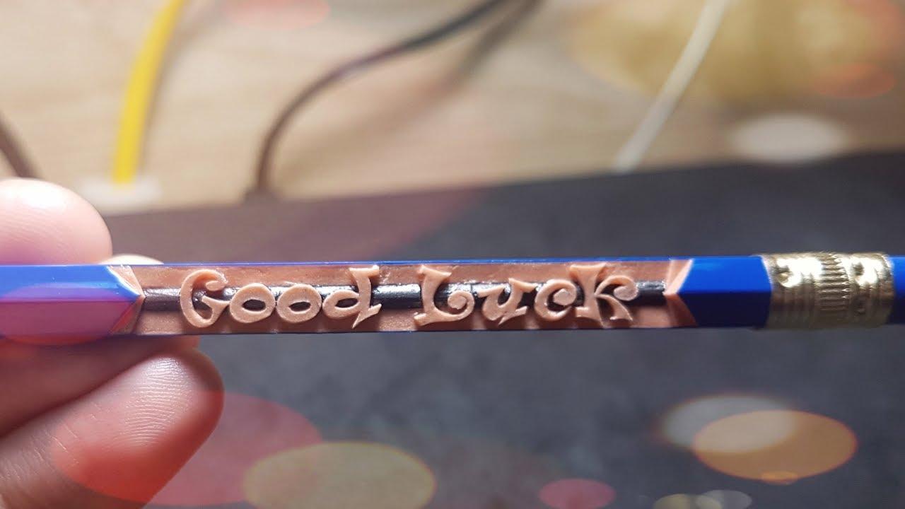 Vlog khắc 5: Khắc chữ Good Luck dành tặng các bạn sắp phải bước vào kỳ thi quan trọng|TranVuPencil