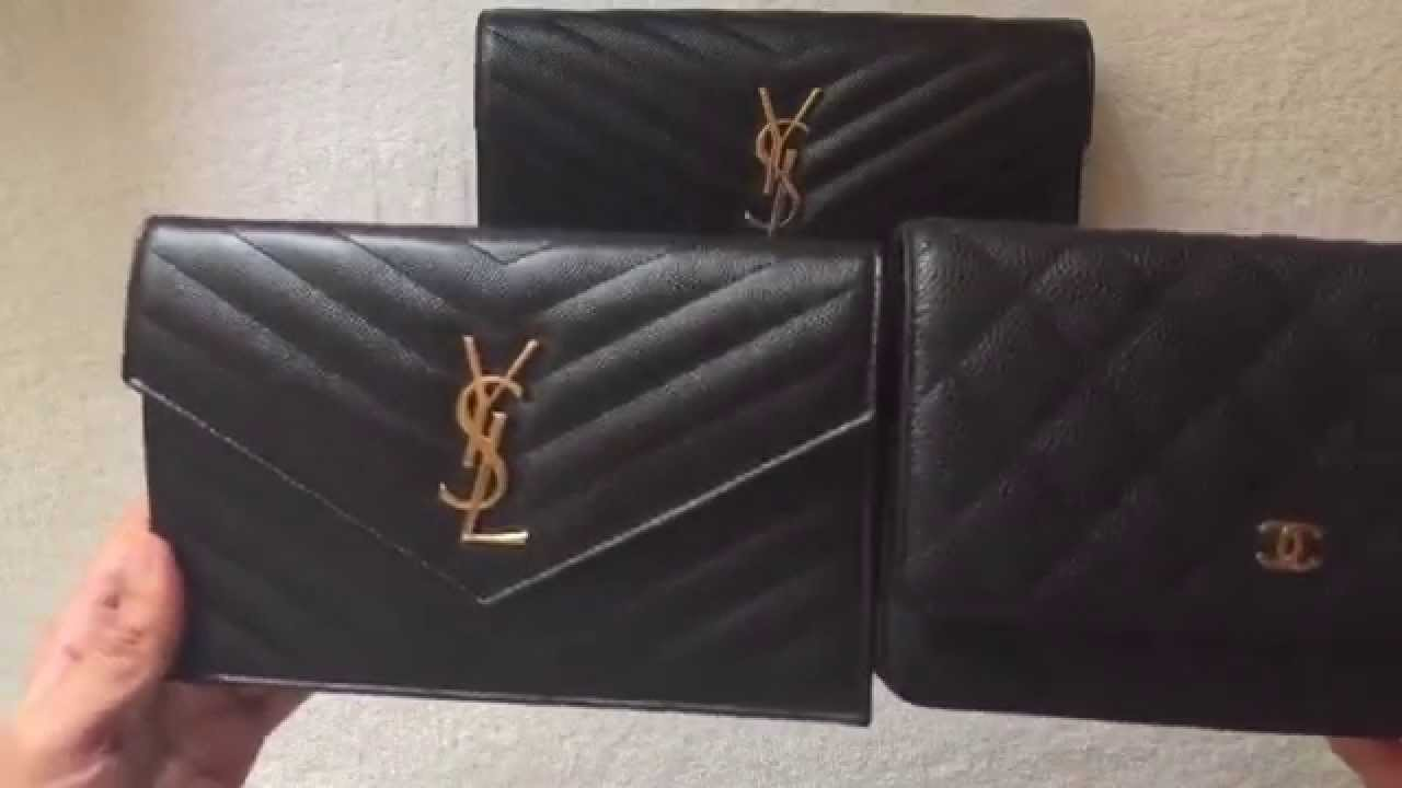 34e47d9217c4 Comparison  CHANEL WOC vs YSL Saint Laurent WOC small vs large - YouTube