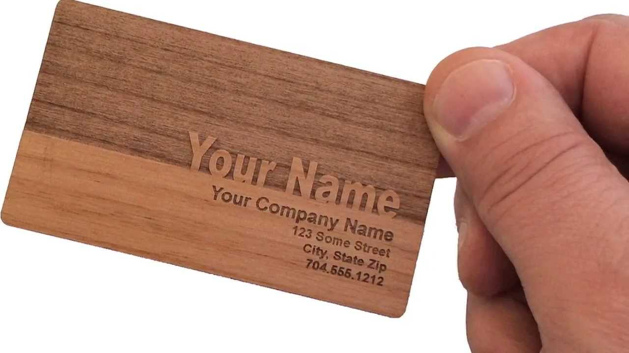Wooden business cards from woodenurecover youtube reheart Images