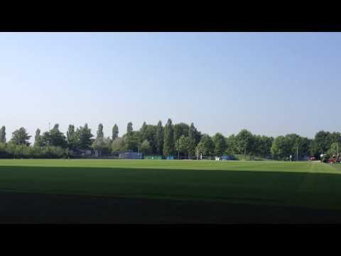 Mowing the field of Schalke 04