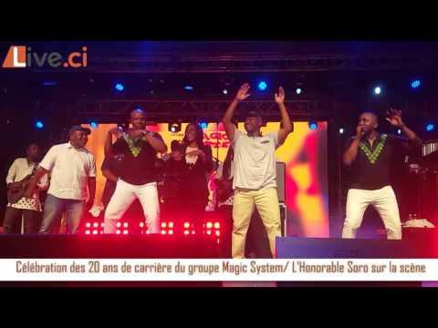 Célébration des 20 ans de Carrière du groupe MAGIC SYSTEM/ L'Honorable Soro sur la scène