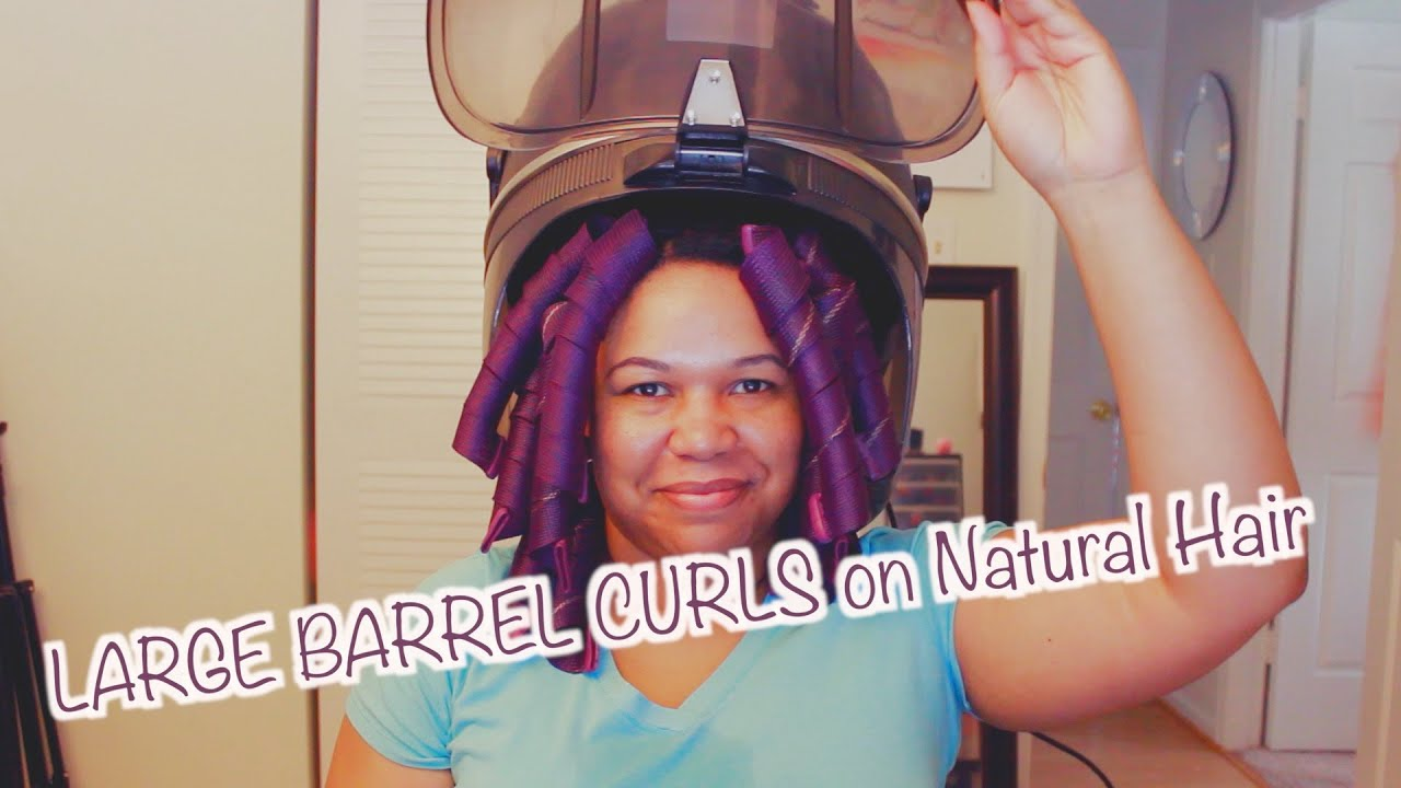 large barrel curls with curlformers