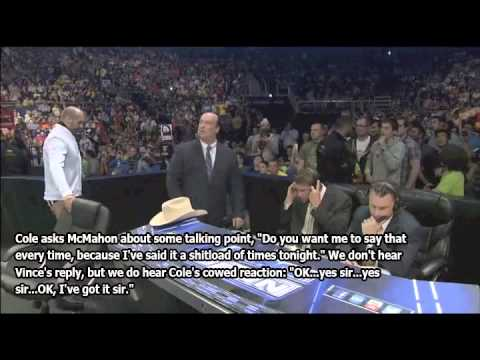 LEAKED Michael Cole unedited commentary (talking to Vince)