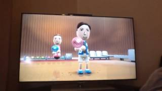 A 2017 game of wii sports resorts on old wii console with Louis 2017
