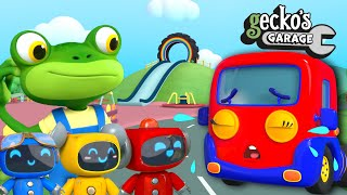Baby Truck's Playground Accident|Gecko's Garage|Funny Cartoon For Kids|Learning Videos For Toddlers