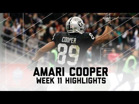 Amari Cooper Highlights | Texans vs. Raiders | NFL Week 11 Player Highlights