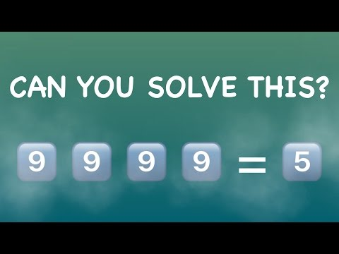 Maths Riddles - Brain Teasers - The Four 9's Math Riddles - Maths Puzzles - Number Puzzle