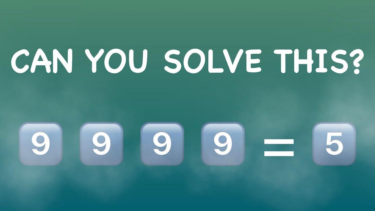 Maths Riddles - Cool Math - The Four 9\'s Math Riddles - Maths ...