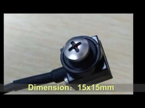 600TVL HD Pinhole Camera,Mini Hidden Black Screw Head Camera