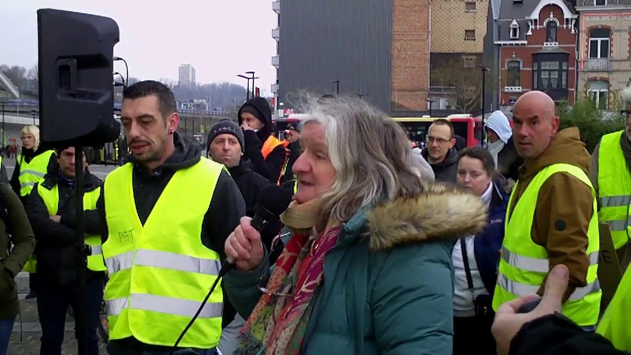 Gilets Jaunes Liège  Acte II : 29 décembre 2018 Gare des Guillemins