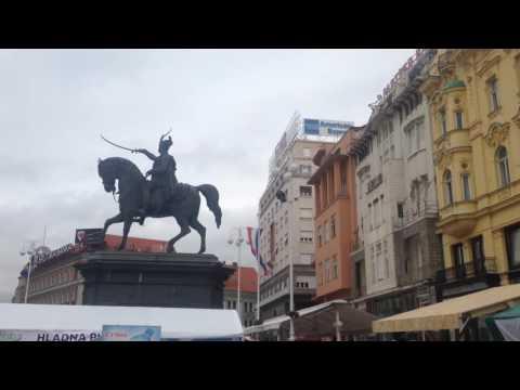Zagreb Ban Jelačić Meydanı / Hırvatistan