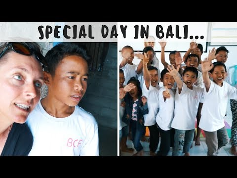 MY MOST SPECIAL DAY IN BALI.. on tour with the Bali Children Foundation