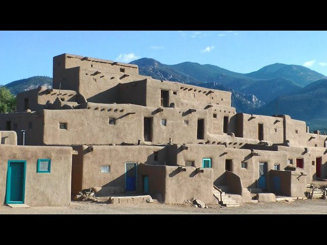 Taos Pueblo & Adobe Churches on the High Road to Taos, New Mexico in HD