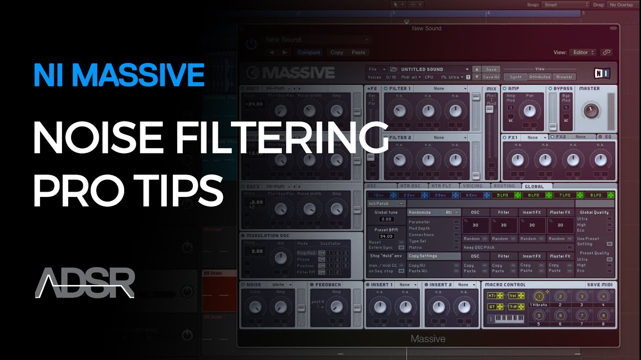 Ni Massive Noise Filtering Pro Tips Youtube Filter For Stereo System