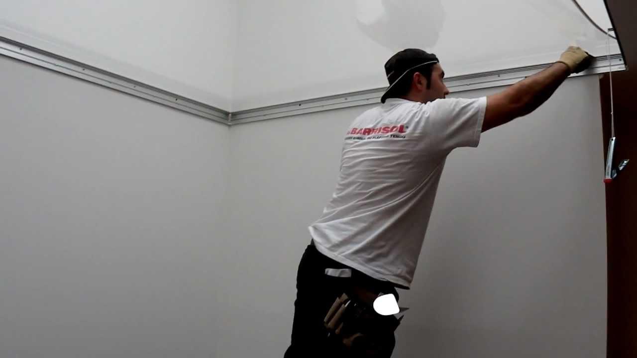 Plafond tendu translucide barrisol star double peau youtube for Nettoyage plafond tendu barrisol