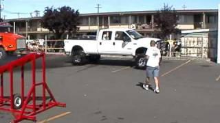 f350 pulls 70,000 lbs Dump Truck