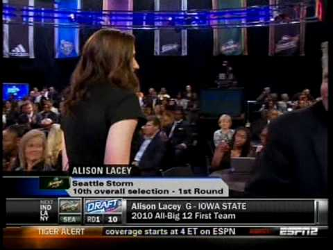 Alison Lacey drafted to the Seattle Storm