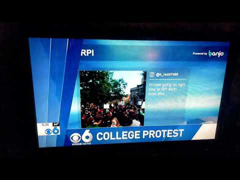 RPI protest covered by WRGB CBS 6 Albany