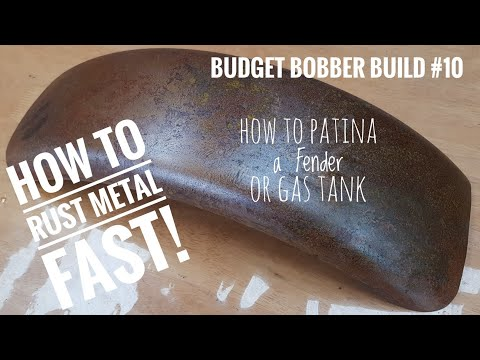 Budget Bobber Build #10 | How To Rust Metal Fast To Patina A Motorcycle Fender Or Gas Tank
