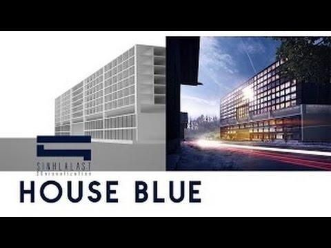 House Blue - Photoshop Architecture