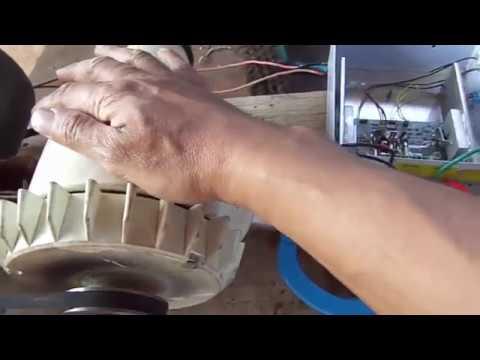 Mini turbina eólica analise e testes de onda com e sem carga