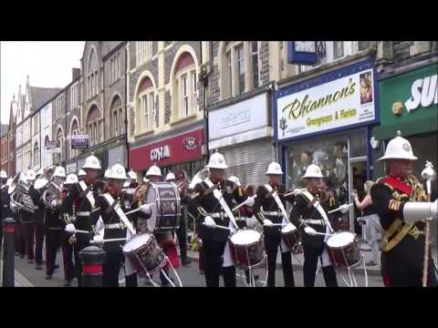 The Band of HM Royal Marines Plymouth - HMS Cambria Freedom of the Vale of Glamorgan Parade.