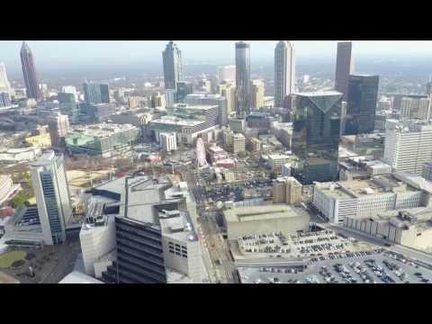 Downtown Atlanta Drone Tour--January 2017