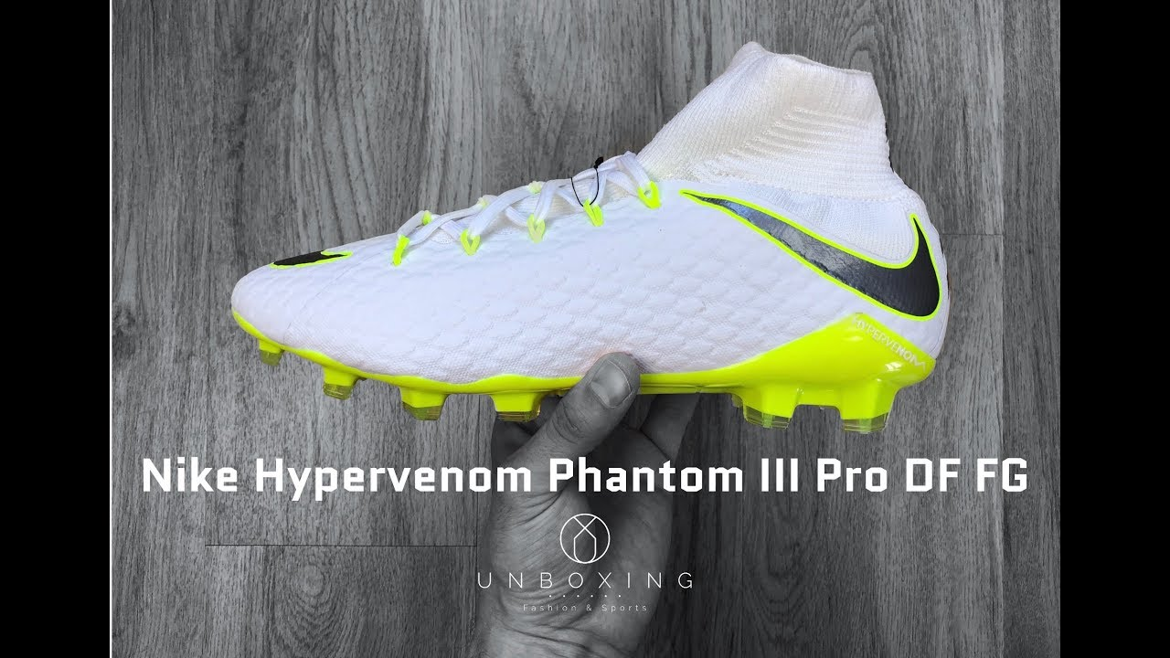 9b1b5e5691b27 Nike Hypervenom Phantom III Pro DF FG 'Just Do It Pack' | UNBOXING & ON  FEET | football boots | 4K