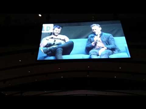 Chris Hemsworth and Tom Hiddleston Panel