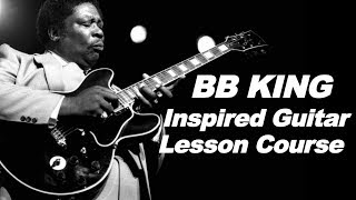 BB King Inspired Blues Lesson Series Course - DD video guitar lessons jam tracks eBook