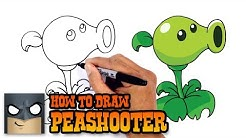 How to Draw Peashooter | Plants vs Zombies