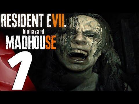 Resident Evil 7 - Madhouse Mode Walkthrough Part 1 - Mia Boss Fight (PS4 PRO)