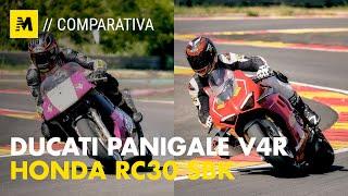 Ducati Panigale V4R vs Honda RC30 SBK Generazioni a confronto