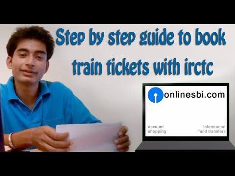 Internet Banking (Part 5):How to book train tickets online with irctc